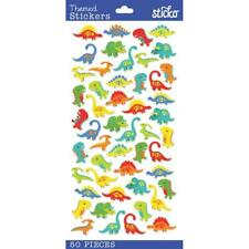 Scrapbooking Crafts Stickers Sticko Dinosaurs Mini Colorful T-Rex Brontosaurus
