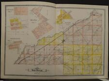 Ohio Clark County Map Mad River Township 1894  Double Page  R5#41