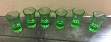 "6 GREEN 3"" TALL SHOOTER SHOT GLASSES UNBRANDED"