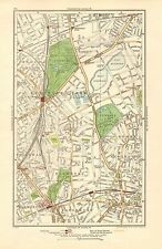 1923 LONDON STREET MAP - FINSBURY PARK,HIGHBURY, STOKE NEWINGTON,CANONBURY