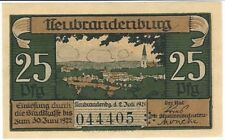Notgeld - Stadt Neubrandenburg - 25 Pfennig - 1921 - Motiv 1