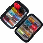 100pcs vintage wet and dry fly fishing lure stream trout fishing