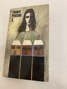V. by Thomas Pynchon 1968 Edition 4th printing Paperback. 1st Novel VG RARE