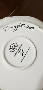 Autographed Tracy Porter Evelyn collection Dinner plate