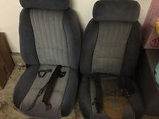 1984 Firebird Trans Am Blue Cloth Seats Set Front Only 82-87 OEM