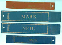 Leather Bookmark Neil Mark Simon Vintage Classic Navy Blue Brown Car Name Gifts