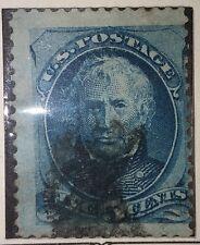US SCOTT #179 - 1875, 5 CENT TAYLOR-BLUE-ORIGINAL Postage Stamp USA