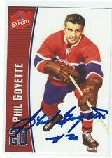 Phil Goyette Signed Molson Export Card Montreal Canadiens