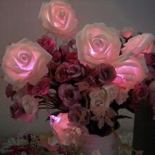 20-LED Battery Operated Diwali Decor Rose Flower Shape String Lamp Fairy Light