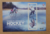 2017 CANADA HISTORY OF HOCKEY STAMP SHEETLET 2 STAMPS