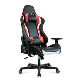 Gaming Computer Pc Chair Home Adjustable Racing Chair Black Red Ergonomic Chair