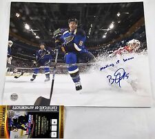 BARRET JACKMAN 11x14 Autographed Photo Signed COA St Louis BLUES 3