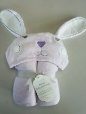 Pottery Barn Baby Kids Hooded Bunny Nursery Bath Wraps Lavender #4079