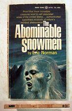 Book: The Abominable Snowmen: Eric Norman 1969 Rare Bigfoot Yeti paperback