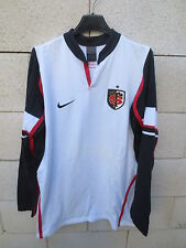 VINTAGE Maillot rugby STADE TOULOUSAIN Nike blanc shirt L coton Toulouse