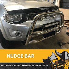 Stainless Steel Nudge Bar Grille Guard For Mitsubishi Triton 2006-2015