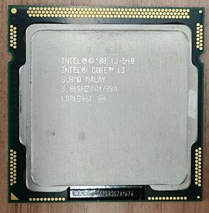 Intel Core i3-540 3.06GHz  Dual Core Socket LGA1156 CPU Processor
