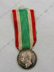 Medaglia Argento Risorgimento Unità d'Italia Valor militare Regio Esercito