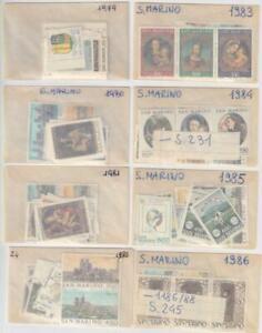SAN MARINO 1979-1986 - 8 yearsets MNH / N6019