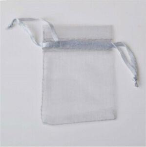 10pcs Drawstring Organza Bags Jewelry Pouches Wedding Party Gift Bag Grey