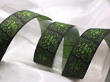 "Jacquard Ribbon 1 3/8"" (35mm) 100% Poly Green Man *Colors* 6 Yards"