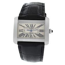 Cartier диван 2612 унисекс большая из нержавеющей стали автоматическая 38 мм часы