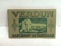 Antique 1916 Vtg WWI Era Booklet 20 Real Photo  Unused Postcards Verdun France