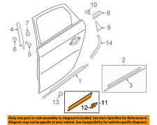 AUDI OEM 13-16 Q5 Rear Door Body Side-Lower Molding Trim Right 8R0853970LGRU