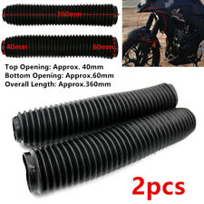 2pc Durable Fork Dust Covers Gaiters Boots Shock Rubber Fit Motorcycle Dirt Bike