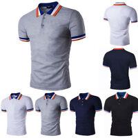 Herren Poloshirt Kurzarm T-shirt Slim Fit Polohemd Freizeit Shirt Tops Hemd Tee
