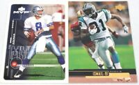 Pair of 1999 Dallas Cowboys Collectible NFL Football Cards