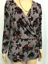 LAURA ASHLEY LOVELY FLORAL LONG SLEEVE TOP SIZE 12