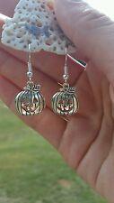 Halloween  Autumn Fall Mini Pumpkin Jack-o-Lantern Earrings - New Free Shipping