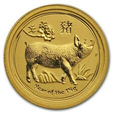 Gold Coin Australia Lunar II - Year of the Pig 2019 - 1/20 oz 99.99 % pure gold