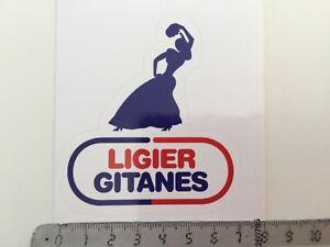 Sticker / Aufkleber, Ligier Gitanes Logo mit Zigeunerin, Formel1 Classic