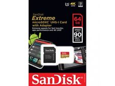 SanDisk 64GB Extreme microSDXC UHS-3 SDXC Card 90MB/s Class 10 UHS-1 U3 4K