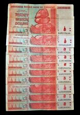 10 x Zimbabwe 20 trillion dollar banknotes-2008/AA  / paper money currency