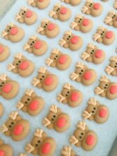 24 x Edible Sugar Icing Christmas Reindeer Cupcake Toppers Decorations Cakes
