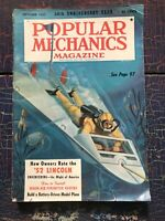 Vintage Popular Mechanics Oct 1952 Lincoln Undersea Television Sno-Cat Navy
