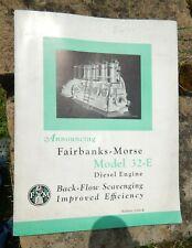 1935 Fairbanks, Morse & Co Model 32-E Diesel Sales Catalog, Bulletin 3200-E