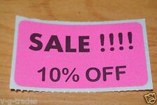 LOT 100 PINK SALE 10% OFF  Price Labels Stickers Tags Retail Store 2X1 INCH