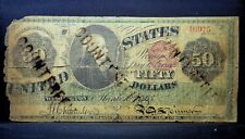1863 $50 LEGAL TENDER NOTE ✪ CONTEMPORARY COUNTERFEIT ✪ STAMPED L@@K ◢TRUSTED◣