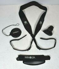 Vhs Camcorder #80 Accessories For Minolta Master - Eye Piece, 2 Straps, Lens Cap