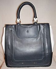 LAST ONE! NWT Brooks Brothers Navy Blue & White Leather Tote Handbag-Retail $698