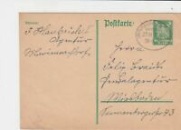germany 1920s bahnpost railway stamps cover ref 18659