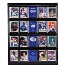 Black Card Display Case Frame Sports Trading Cards Collectibles Organizer Decor