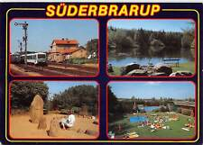 GG13412 Suederbrarup Schwimmbad See Wald Forest Lake Train Station