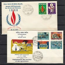 VIETNAM 1968  2  FDC COVERS first day premier jour