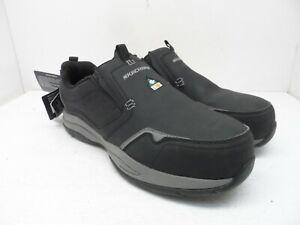 SKECHERS Men's Steel Toe Composite Plate Slip-On Work Shoes Black/Grey Size 9.5M