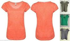 Markenlose Damenblusen,-Tops & -Shirts mit Baumwolle ohne Muster für Freizeit
